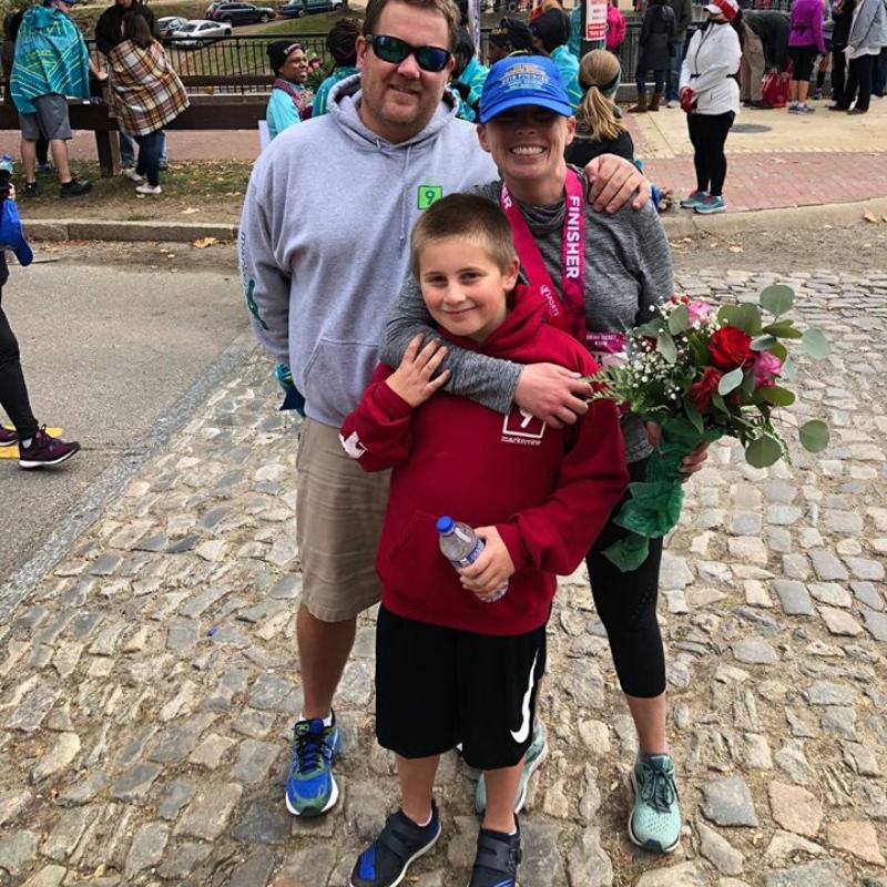 Stephanie Heinatz Richmond Marathon 2019 3