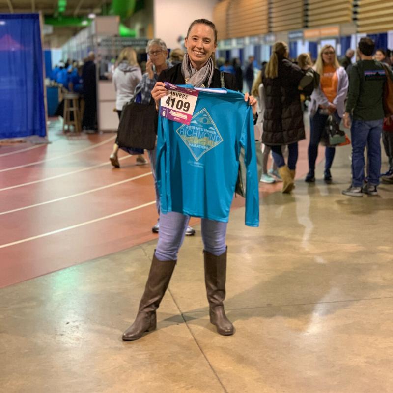 Stephanie Heinatz Richmond Marathon 2019 4