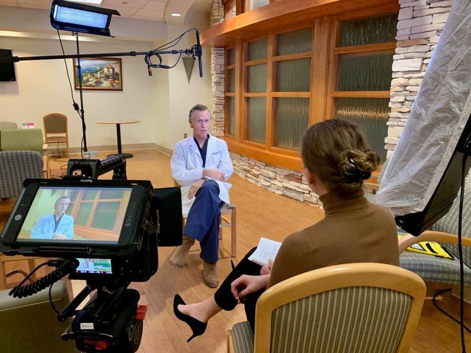 Stephanie Heinatz Interviewing Oncologist Doctor